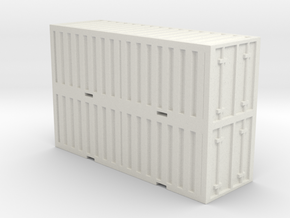 Shipping Containers Stacked in White Natural Versatile Plastic