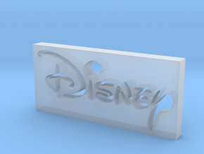 Disney Logo in Smooth Fine Detail Plastic