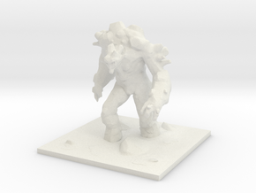Earth Elemental / Golem in White Natural Versatile Plastic