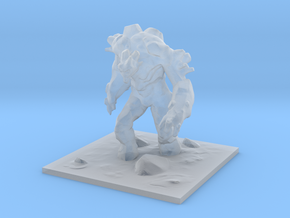 Earth Elemental / Golem in Smooth Fine Detail Plastic