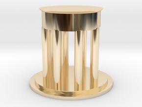 "2"" Custom Graduation Gift for SMU Dedman Law in 14k Gold Plated Brass"