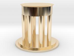 "3"" Diameter Personal Dedman Law Graduation Gift in 14k Gold Plated Brass"