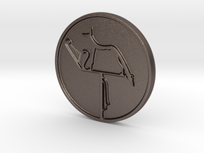 Wepwawet Coin in Polished Bronzed Silver Steel