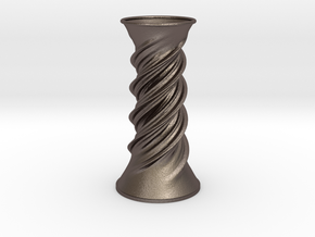 Vase 125618 in Polished Bronzed Silver Steel