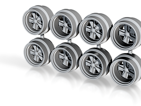 7.3mm Fuchs Hot Wheels Rims in Smoothest Fine Detail Plastic
