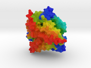 Computationally Designed Tetrahedron Protein T310 in Full Color Sandstone