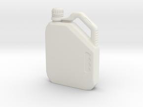 Motor Oil Bottle in White Natural Versatile Plastic: Small