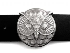 Owl Buckle (ready to use) in Polished Bronzed Silver Steel