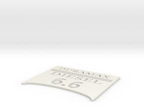 duramax6.6 in White Natural Versatile Plastic