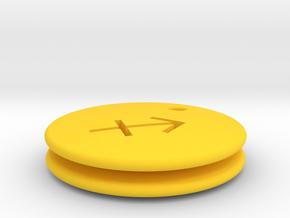 Sagittarious Symbol Earring in Yellow Processed Versatile Plastic