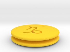 Capricorn Symbol Earring in Yellow Processed Versatile Plastic