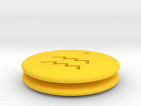 Aquarius Symbol Earring in Yellow Processed Versatile Plastic