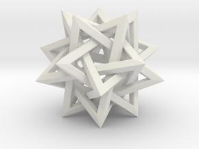 Five Tetrahedra in White Premium Versatile Plastic: Small