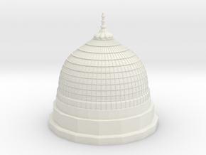 Gumbad Khizra- Madina Tomb Dome in White Natural Versatile Plastic: Small