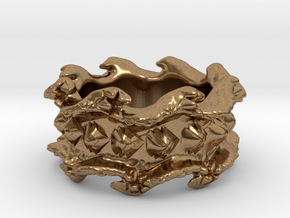 Ocean Wave Ring in Natural Brass: 10.5 / 62.75