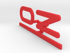 OZ Emblem for center cap flat in Red Processed Versatile Plastic