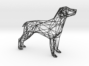 Dog Wire Sculpture in Black Natural Versatile Plastic