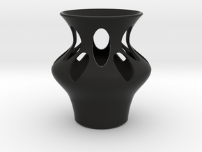 Simple Modern Home and Office Vase in Black Natural Versatile Plastic