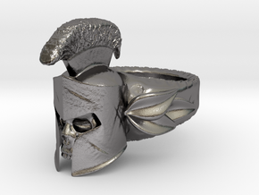 Spartan Helmet Ring in Polished Nickel Steel: 9 / 59