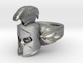 Spartan Helmet Ring in Natural Silver: 9 / 59