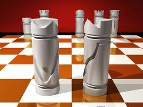 CHESS ITEM CAVALO / KNIGHT in White Strong & Flexible