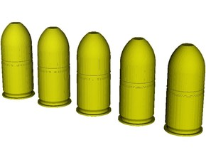 1/10 scale M-781 40x46mm grenades x 5 in Smooth Fine Detail Plastic