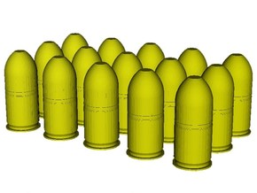 1/10 scale M-781 40x46mm grenades x 15 in Smooth Fine Detail Plastic
