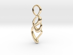 Small drop in 14k Gold Plated Brass