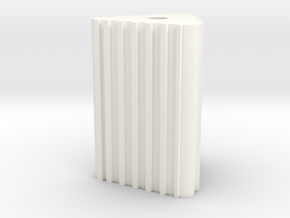 Wheel chock 1/8th scale  in White Processed Versatile Plastic