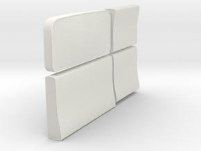 1/12 Ural Truck Seat Cushions Set001 in White Natural Versatile Plastic