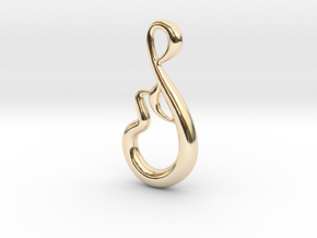 Messy lines in 14k Gold Plated Brass