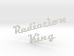 radiation king logo 3mm thick in White Natural Versatile Plastic