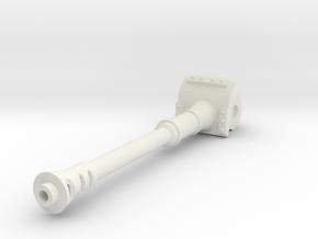 120mm Cannon in White Natural Versatile Plastic