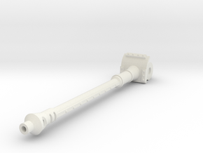 Long 120mm Cannon in White Natural Versatile Plastic