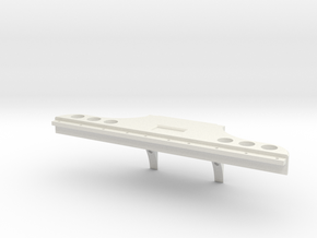Rear Bumper for Verkerk Lights in White Natural Versatile Plastic
