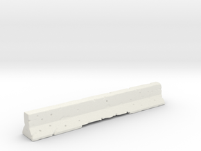 Concrete Road Barrier in White Natural Versatile Plastic