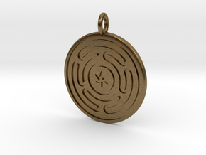Wheel of Hecate pendant in Natural Bronze