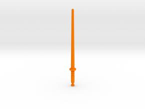 Baron Karza's Force Saber 5mm in Orange Processed Versatile Plastic