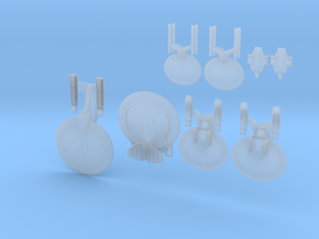 Federation Dominion War Full Thrust Pack in Smooth Fine Detail Plastic