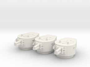 PV67F BT-7A Turret (x3) (1/48) in White Natural Versatile Plastic