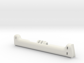 Phantom 4 Rear GoPro Mount Main Brace  in White Natural Versatile Plastic
