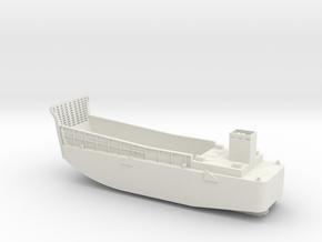 LCM3 Landing craft - Scale 1:96 in White Natural Versatile Plastic
