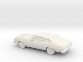 1/87 1974-76 Ford Gran Torino Brougham Coupe in White Natural Versatile Plastic