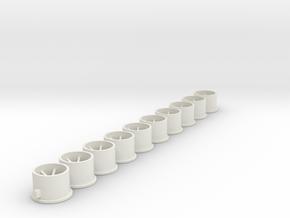 Flachfelge 10x7x2_0Fl in White Natural Versatile Plastic