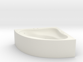 Jacuzzi Corner 01. HO scale (1:87) in White Natural Versatile Plastic
