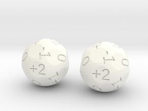 4dF in two (d18s) in White Processed Versatile Plastic