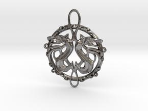 Dragon Pendant in Polished Nickel Steel
