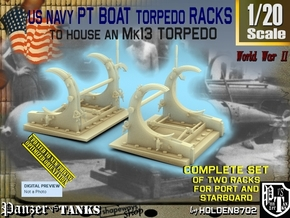 1/20 PT Torpedo Rack TypE in Smooth Fine Detail Plastic