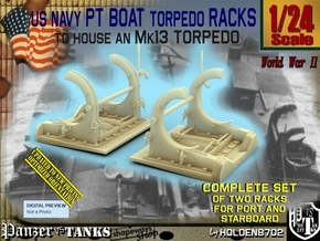 1/24 PT Torpedo Rack TypA in Smooth Fine Detail Plastic