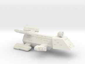 3788 Scale Kzinti Battle Frigate (BFF) SRZ in White Natural Versatile Plastic